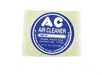AC AIR CLEANER LABEL ROUND TYPE: