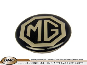 HUB CAP BADGE:  MG